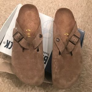 Birkenstock Boston - Men Sz 13 Taupe